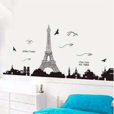 Paris Wallpaper For Bedroom Ussore Eiffel Tower Removable Decor Environmentally Mural Wall
