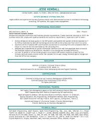 Analyst Resume Objective Of Highly Skilled Business Systems With