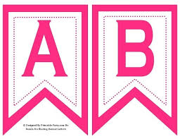 5 Inch Swallowtail Hot Pink Printable Banner Letters A Z 0 9