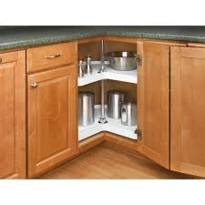 Kitchen Lazy Susan Cabinet Rev A Shelf 26 In H X 28 In W X 28 In D White Polymer 2 Shelf