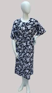 Muumuu Pattern Cool Mari Muumuu Black With White Floral Pattern Bosa Modest Wear