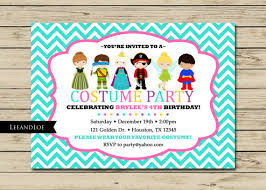 costume party invites costume birthday party invitation princess ninja by leeandloe