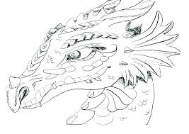 Dragon Coloring Pages Printable For Adults Difficult Colouring Fire