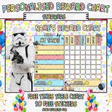 Star Wars Behavior Chart Details About Childrens Personalised Reward Chart Chore Toilet Training Star Wars