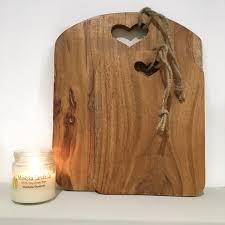 heart cut out chopping board