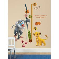 superbe roommates the lion king rafiki l and stick giant growth chart wall decal