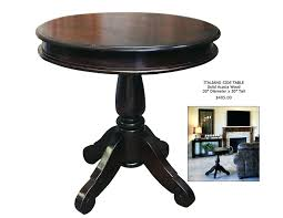 tall round end table dining with storage tall round end table