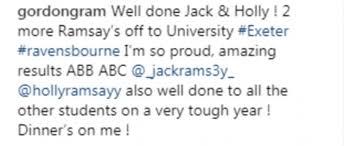 Alice J Ramsay Relationship Chart Gordon Ramsay Congratulates His Twins On A Level Success
