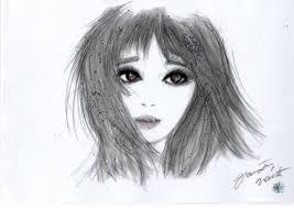 美少女美女モノトーン可愛いイラスト