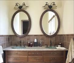 Bronze Mirror Bathroom Amazing Oval Bathroom Mirrors Assembling Oval Bathroom Mirrors