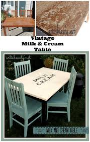 Rescued Table And Chairs Turned Vintage Farmhouse Milk Cream