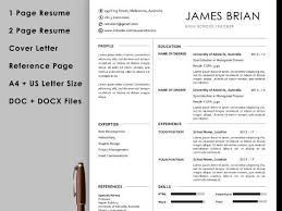 Cover Letter And Resume Templates Teacher Resume Template With Cover Letter And Reference Page Instant Download