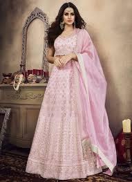 Light Pink Indian Wedding Dress Light Pink Designer Lehenga Choli