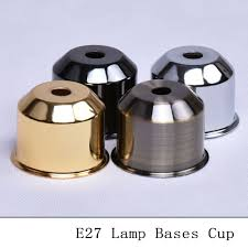 Light Bulb Socket Cover Us 14 87 Vintage E27 Lamp Socket Cup Bronzed Black Silver Gold Table Lamp Holder Covers Wall Ceiling Light Lamp Bases Cups 6pcs Lot In Lamp Covers