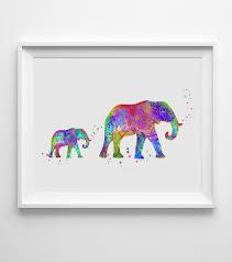 elephant art print watercolor baby elephant wall art wall hanging nursery decor paper family art gift on baby elephant wall art for nursery with elephant art print watercolor baby elephant wall art wall hanging