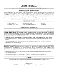 Fresh Sample Resume For Mechanical Engineer Design Engineer Onda