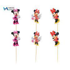Bộ 24 Món Đồ Ăn Tráng Miệng Hình Chuột Mickey Vịt Donald Đáng Yêu