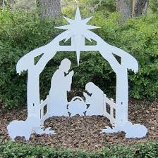 wood outdoor nativity scene lifetime outdoor nativity marine grade white silhouette wood outdoor nativity scene