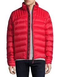 new 1550 canada goose mens red slim fit down puffer jacket winter coat size m