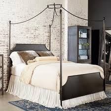 Traditional Manor Cathedral Iron Canopy Queen Bed   Nebraska ...