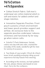 Separatec Size Chart David Archy Separatec Brand Sexy Gay Long Boxers For Man 1 Pack Comfortable Cotton Dual Pouch Scrotum Fly Mens Undershorts