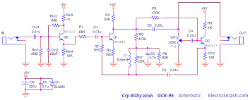 dunlop crybaby gcb circuit analysis the dunlop cry baby gcb 95 schematic
