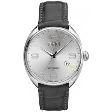 fendimatic automatic leather silver mens watch f200016061 fendi fendimatic automatic leather silver mens watch f200016061