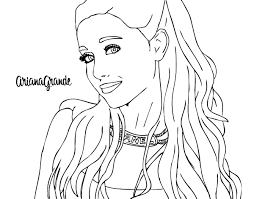 Small Picture Ariana Grande with necklace coloring page Coloringcrewcom