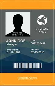 School Id Template High School Id Card Template Download By Student Report Margines Info