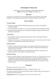 Resume Communication Skills Ex