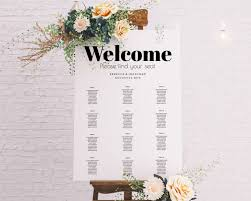 Wedding Seating Chart Easy Editable Seating Chart Free Preview Try Before You Buy