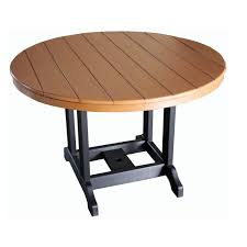 indiana amish poly 48in round dining table