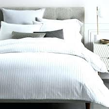 echo design bedding echo design bedding organic washed cotton stripe duvet cover shams slate echo design