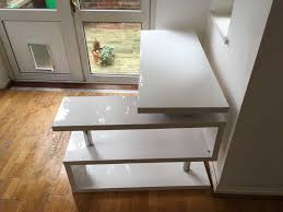 high office desk. Furniture For Sale Box Siena White High Gloss Rotating Office Desk - £75 RRP W