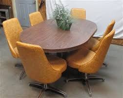 Harvest Gold Chromcraft Vintage Kitchen Table Chair Set Dining Room Dinette  70s Pinterest