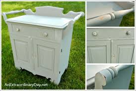 antique white chalk paintAntique Washstand with a FolkArt Home Decor Chalk Paint Makeover