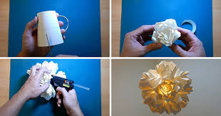 Paper Flower Lamp Create This Diy Rose Pendant Lamp From Paper Cups