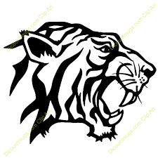 tiger head clip art black and white. Intended Tiger Head Clip Art Black And White