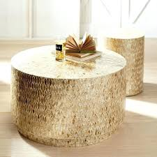 silver drum coffee table superhuman round worldsapart me home ideas 37