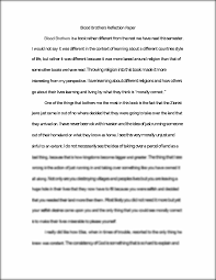blood brothers reflection essay blood brothers reflection paper this preview has intentionally blurred sections sign up to view the full version