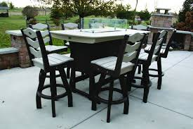 tempered glass windshield it also has an easy push on ignitor and the table itself is made from weather all poly lumber made from recycled