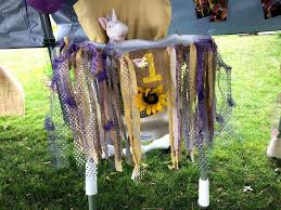 the finished highchair banner had a shabby chic look and went really well the wildflower sunflower theme