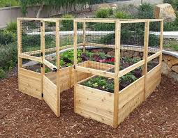 garden beds. deer proof cedar complete raised garden bed kit - 8\u0027 x 20\ beds