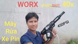 Máy rửa xe dùng pin siêu khủng /WORX HYDRO SHOT 450PSI 40V - YouTube