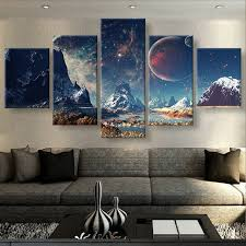 5 piece canvas prints. Contemporary Prints 5 Pieces Canvas Prints MOUNTAINS AND SPACE Sport Painting Poster  Home Decor Wall Art For For Piece Canvas Prints L