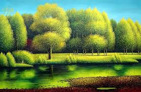 nature of beauty landscape oil painting river naturalism 24 x 36 inches with frame