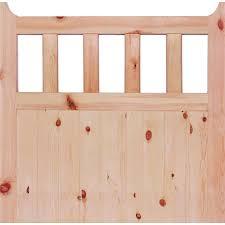 600 external unfinished redwood gate