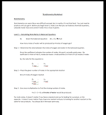 Student centered Stoichiometry worksheet - Complete package