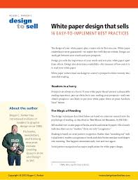 White Paper Templates White Paper Design Tips That Sell