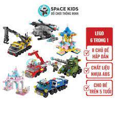 Đồ chơi Lego city giá rẻ 6 trong 1 nhiều chủ đề, đồ chơi cho bé 👶 xếp hình  lego Lele Brother - Đồ chơi học tập